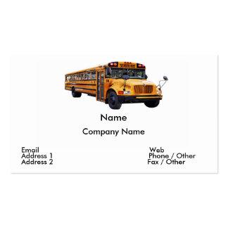 Cartão de visita do condutor de autocarro