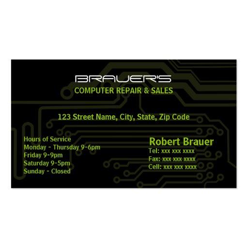 Cartão de visita do conselho de circuito elétrico