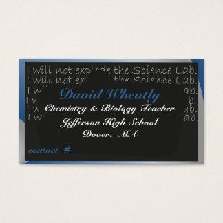 Cartão de visita do conselho de giz do professor