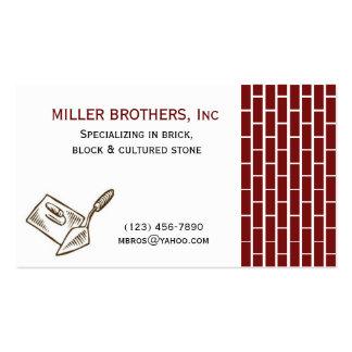 Cartão de visita do construtor da construção de ti