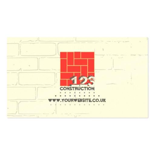 Cartão de visita do construtor/empresa de construç