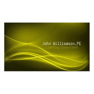Cartão de visita do consultante da iluminação