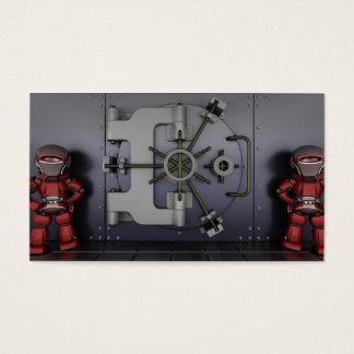 Cartão de visita do consultor de segurança