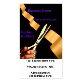 Cartão de visita do consultor empresarial