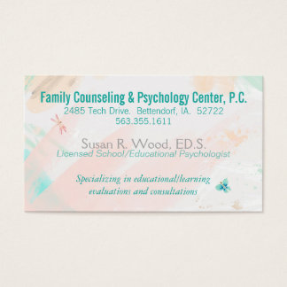 Cartão de visita do consultório particular do