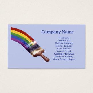 Cartão de visita do contratante da pintura