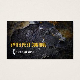 Cartão de visita do controlo de pragas da textura