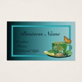 Cartão de visita do copo de café da cerceta