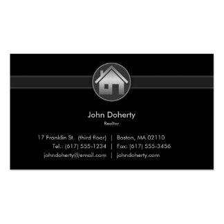 Cartão de visita do corretor de imóveis
