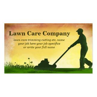 cartão de visita do corte da grama do cuidado do g