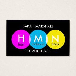 Cartão de visita do Cosmetologist do pop