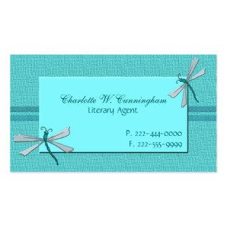 Cartão de visita do costume das libélulas de turqu