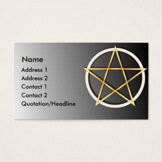 Cartão de visita do costume do Pentagram de Wiccan