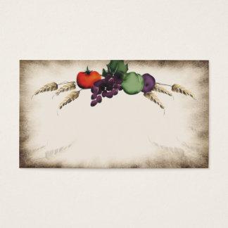 Cartão de visita do cozinhar da fruta do trigo de