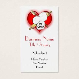 Cartão de visita do cozinheiro chefe