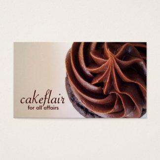 Cartão de visita do cozinheiro chefe de pastelaria