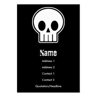 Cartão de visita do crânio do vetor