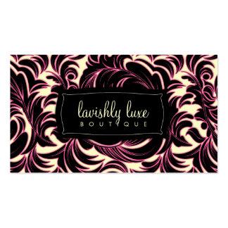 Cartão de visita do creme do traço do rosa de 311