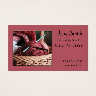 Cartão de visita do Crochet