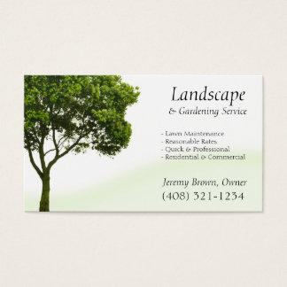 Cartão de visita do cuidado da árvore ou do
