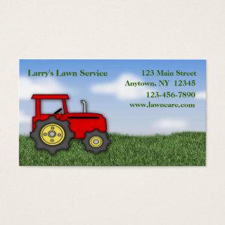 Cartão de visita do cuidado do gramado