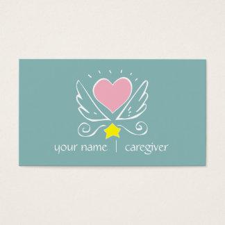 Cartão de visita do cuidador