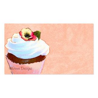 Cartão de visita do cupcake