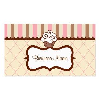 Cartão de visita do cupcake da baunilha