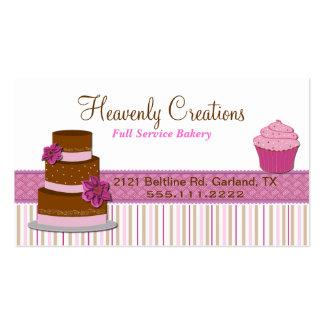 Cartão de visita do cupcake da padaria