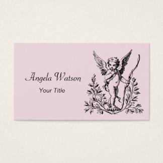 Cartão de visita do Cupido do anjo