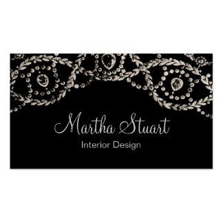 Cartão de visita do ~ da jóia de Cartierr