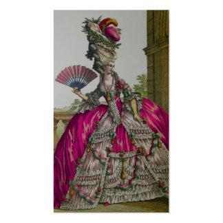 Cartão de visita do da rainha Marie Antoinette