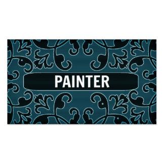 Cartão de visita do damasco da cerceta do pintor