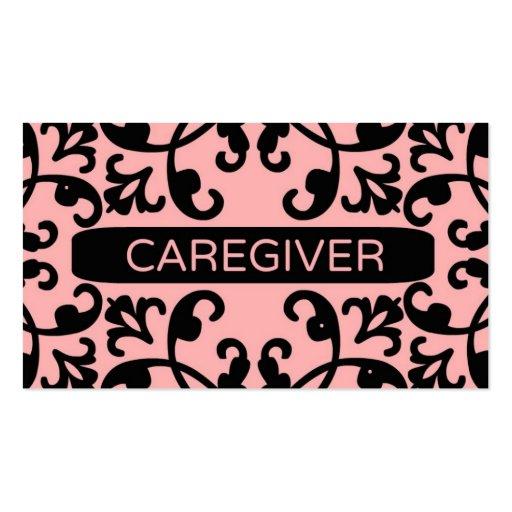 Cartão de visita do damasco do cuidador