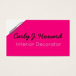 Cartão de visita do decorador interior