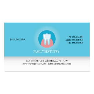 Cartão de visita do dentista com logotipo