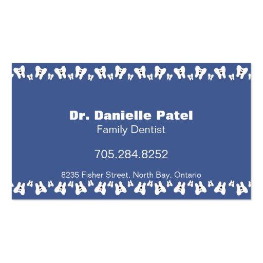 Cartão de visita do dentista da família - dentes f
