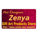 Cartão de visita do desenhista da arte