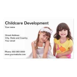 Cartão de visita do desenvolvimento infantil