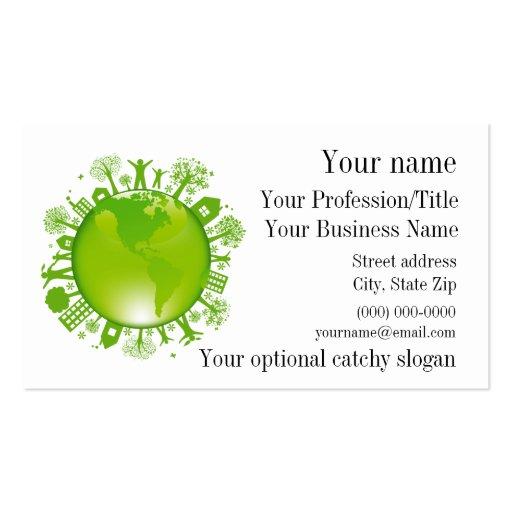 Cartão de visita do design ambiental