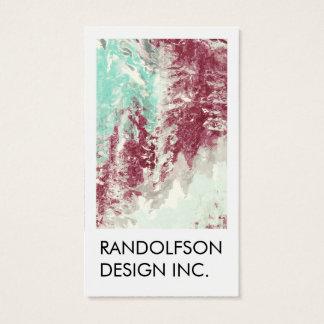 Cartão de visita do design da arte abstracta