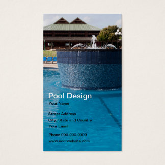 Cartão de visita do design da piscina