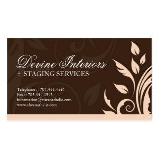 Cartão de visita do designer de interiores