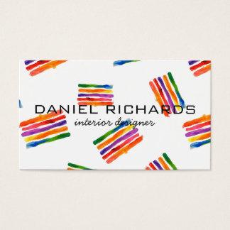 Cartão de visita do designer de interiores da