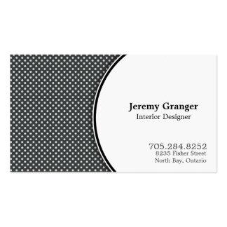 Cartão de visita do designer de interiores das cri