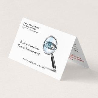 Cartão de visita do detetive do investigador