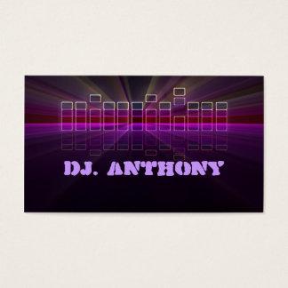 cartão de visita do DJ da música