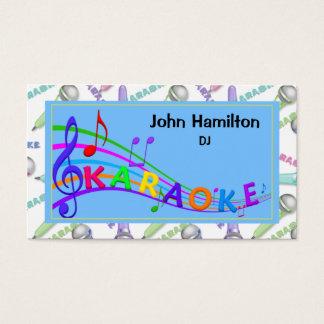 Cartão de visita do DJ do karaoke