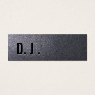 Cartão de visita do DJ do preto de carvão mini