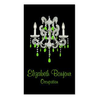 Cartão de visita do ~ do candelabro da noite